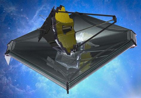 """კოსმოსური ტელესკოპი """"ჯეიმს უები""""(NASA)."""
