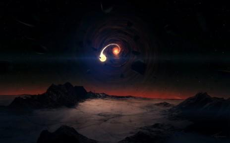 ბნელი მატერიისა და შავი ხვრელების ურთიერთქმედება