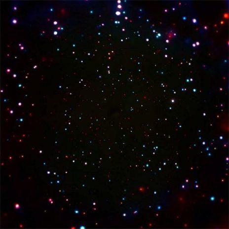 შავი ხვრელებით გაჯერებული სამყაროს ნაწილი