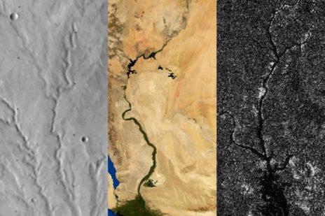 რითი განსხვავდება დედამიწის, მარსისა და ტიტანის მდინარეები?