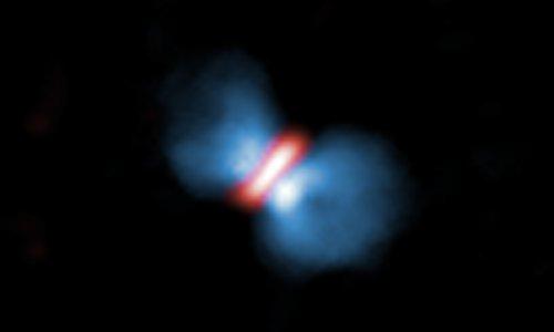 ALMA მასიური ვარსკვლავის დაბადებას იკვლევს