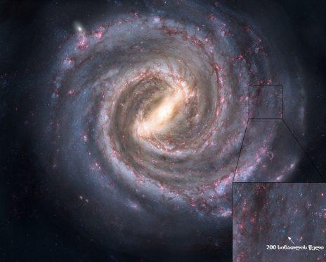 ირმის ნახტომის რუკა და ჩვენი მარტოობა…
